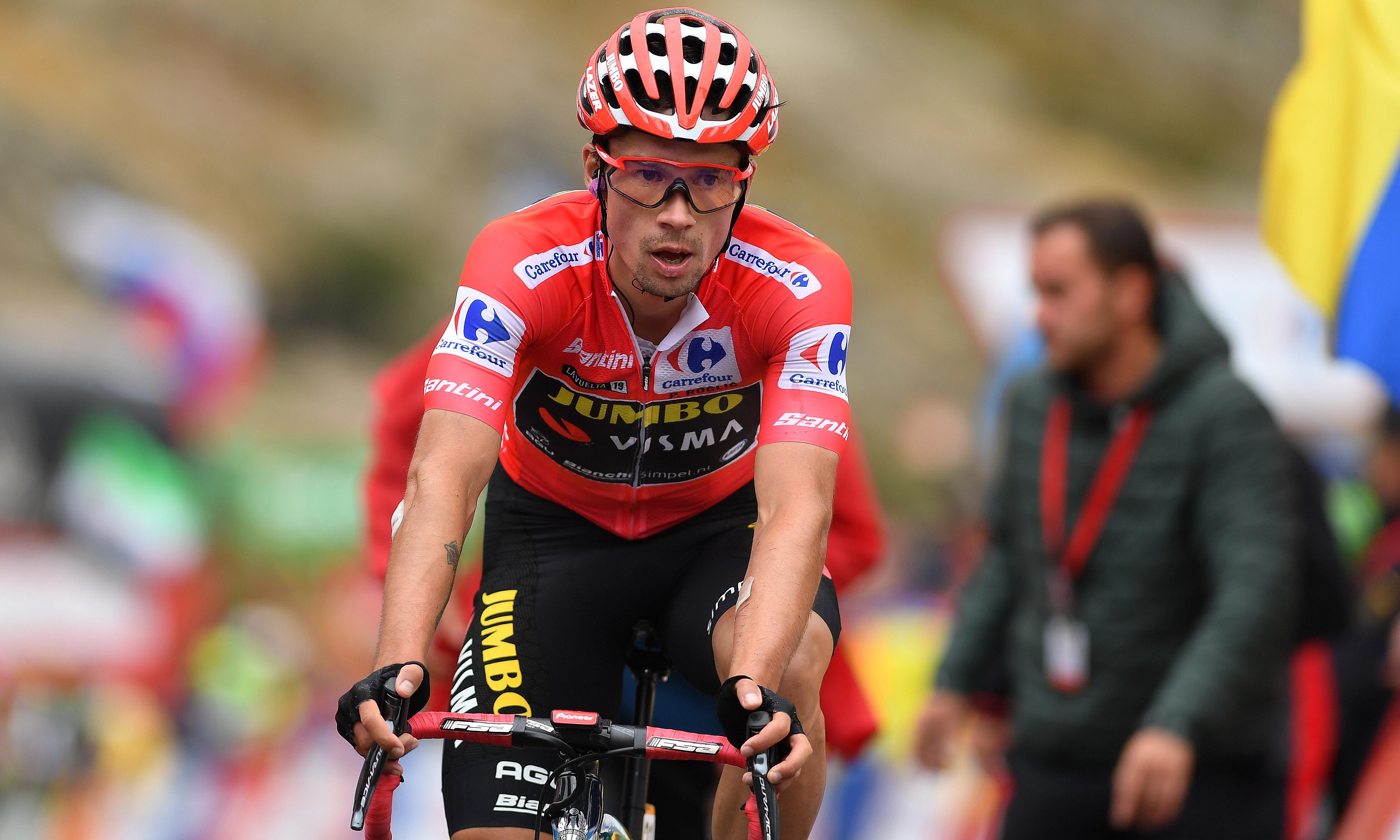 Vuelta a España: Primoz Roglic set to triumph after retaining red jersey