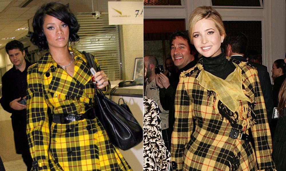 Say it with tartan: Rihanna and Ivanka Trump.