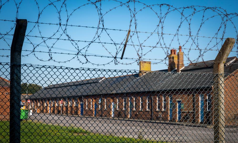 Napier Barracks, in Folkestone.