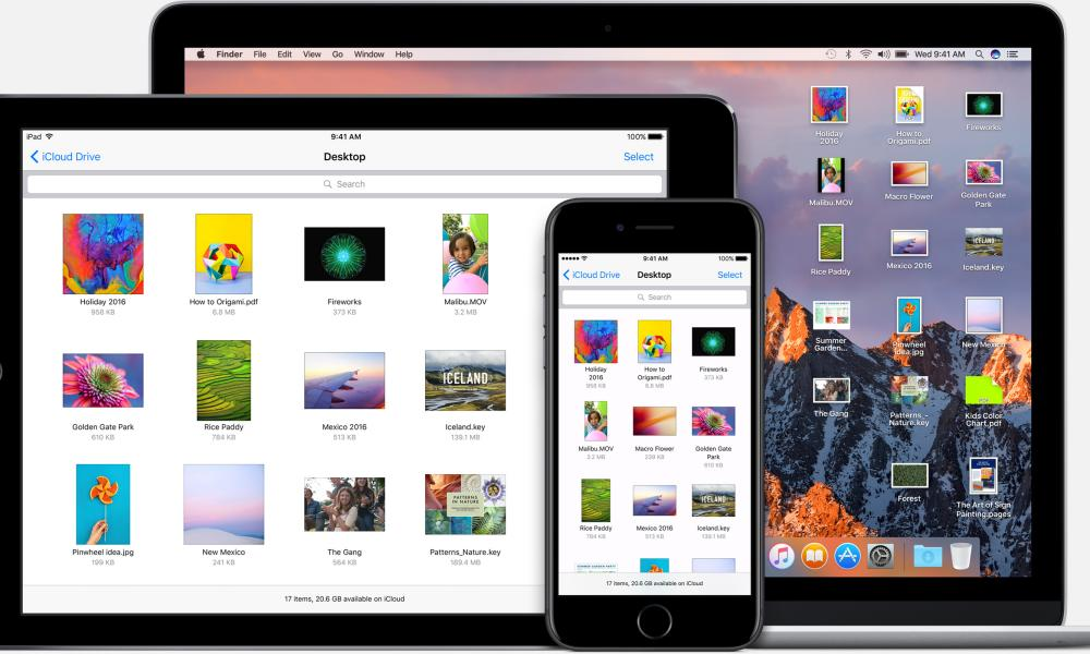 iCloud disko desktop