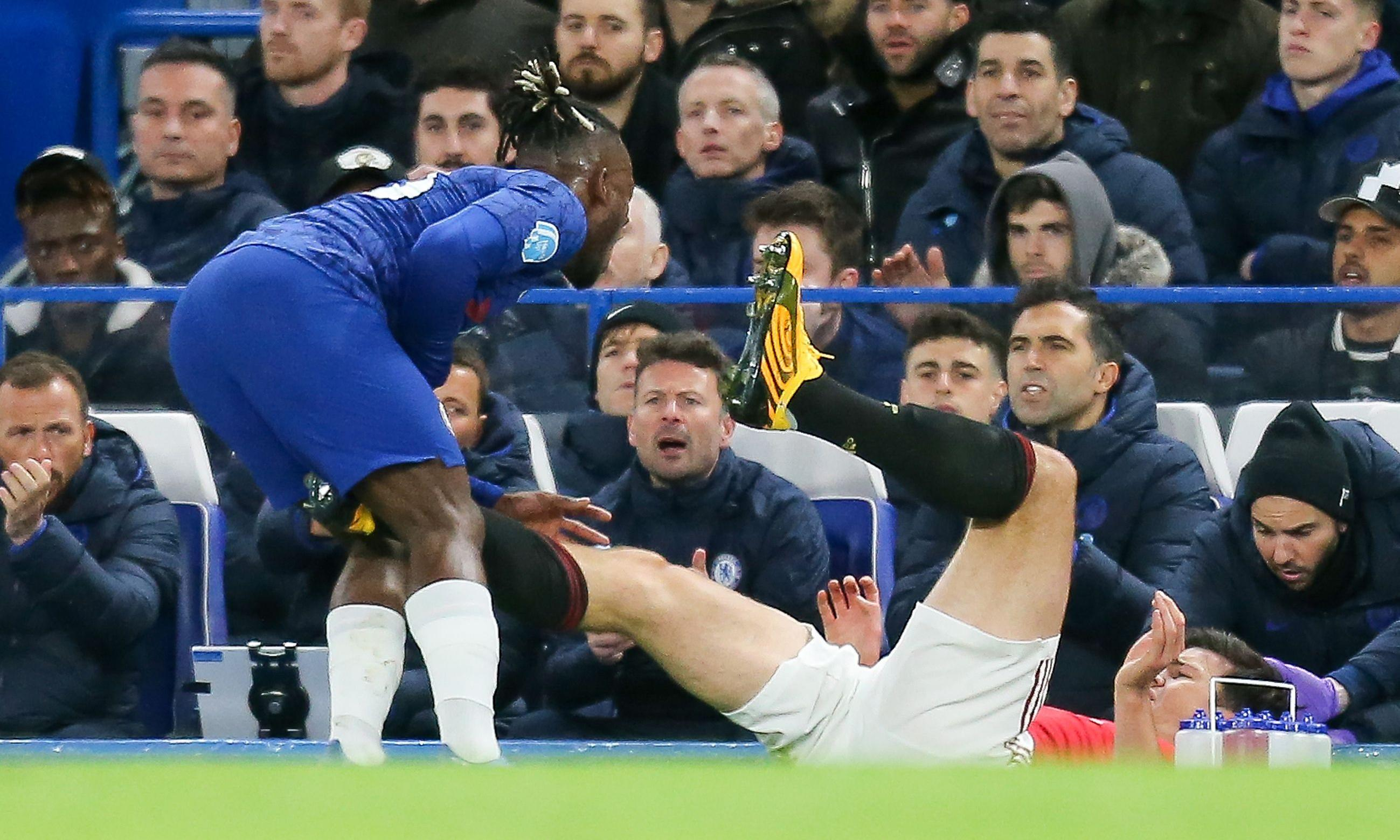 Frank Lampard laments Maguire's red-card escape in Chelsea defeat