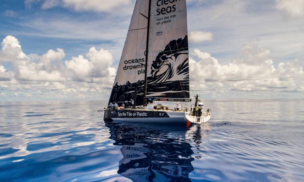 Turn the Tide on Plastics team in the Volvo ocean race