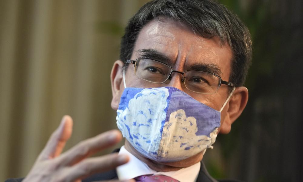 Taro Kono, the frontrunner to be Japan's next prime minister