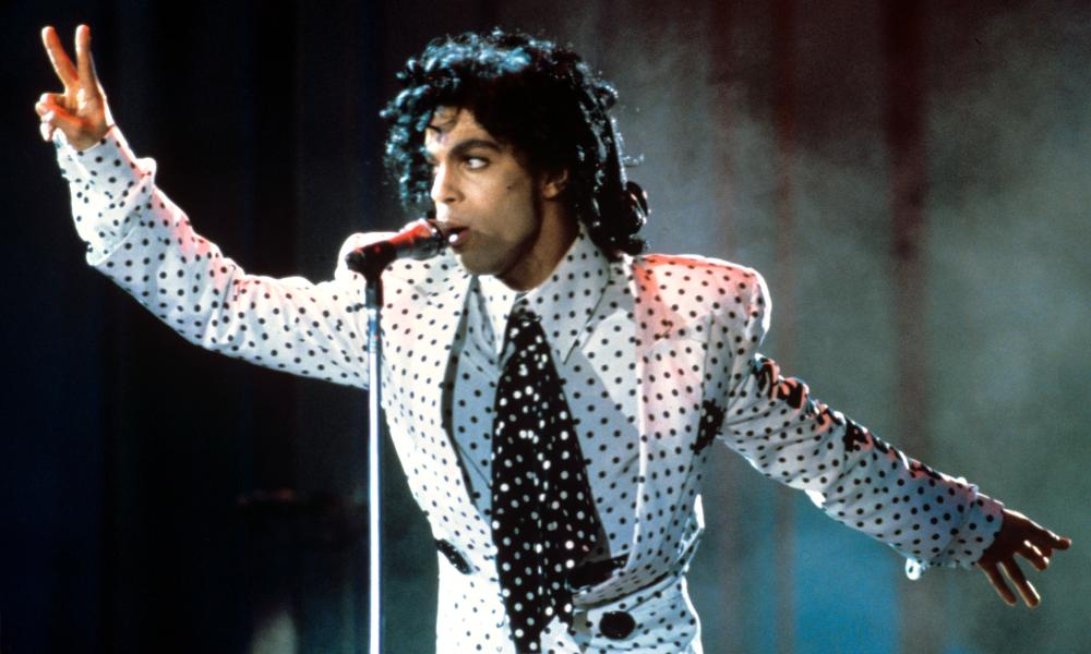 In polka dots on the Lovesexy tour in 1988