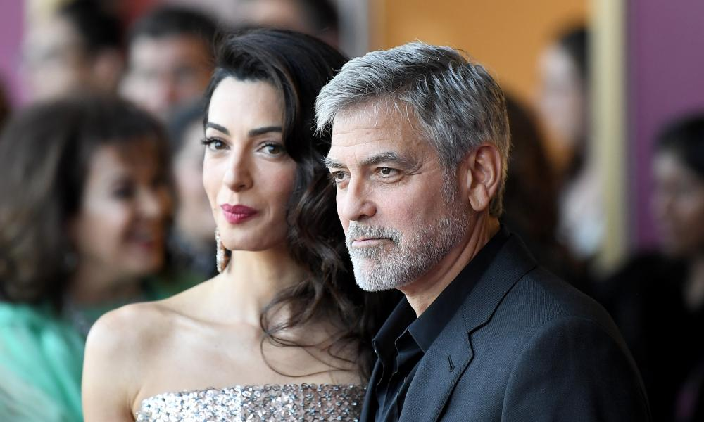 Amal Clooney and George Clooney 'Catch-22' TV show premiere, London, 15 May 2019.