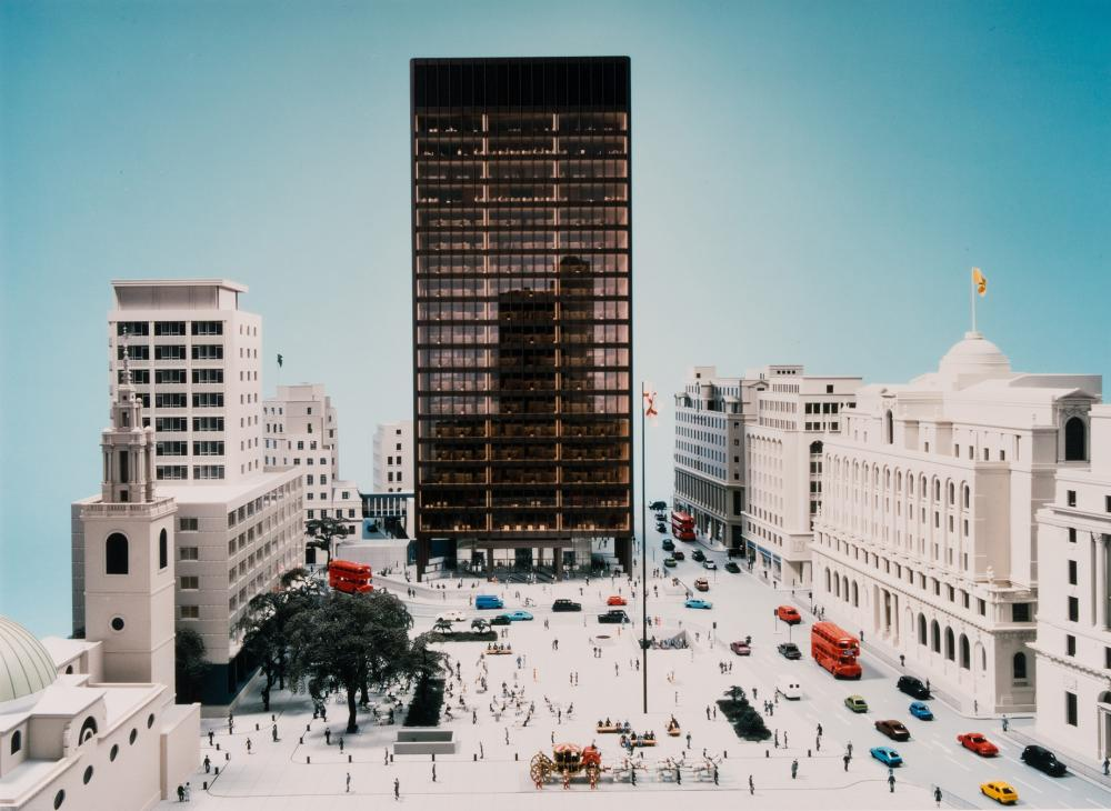Mies van der Rohe's Mansion House Square proposals for the site of No1 Poultry RIBA's Architecture Gallery from March 8 to June 25.