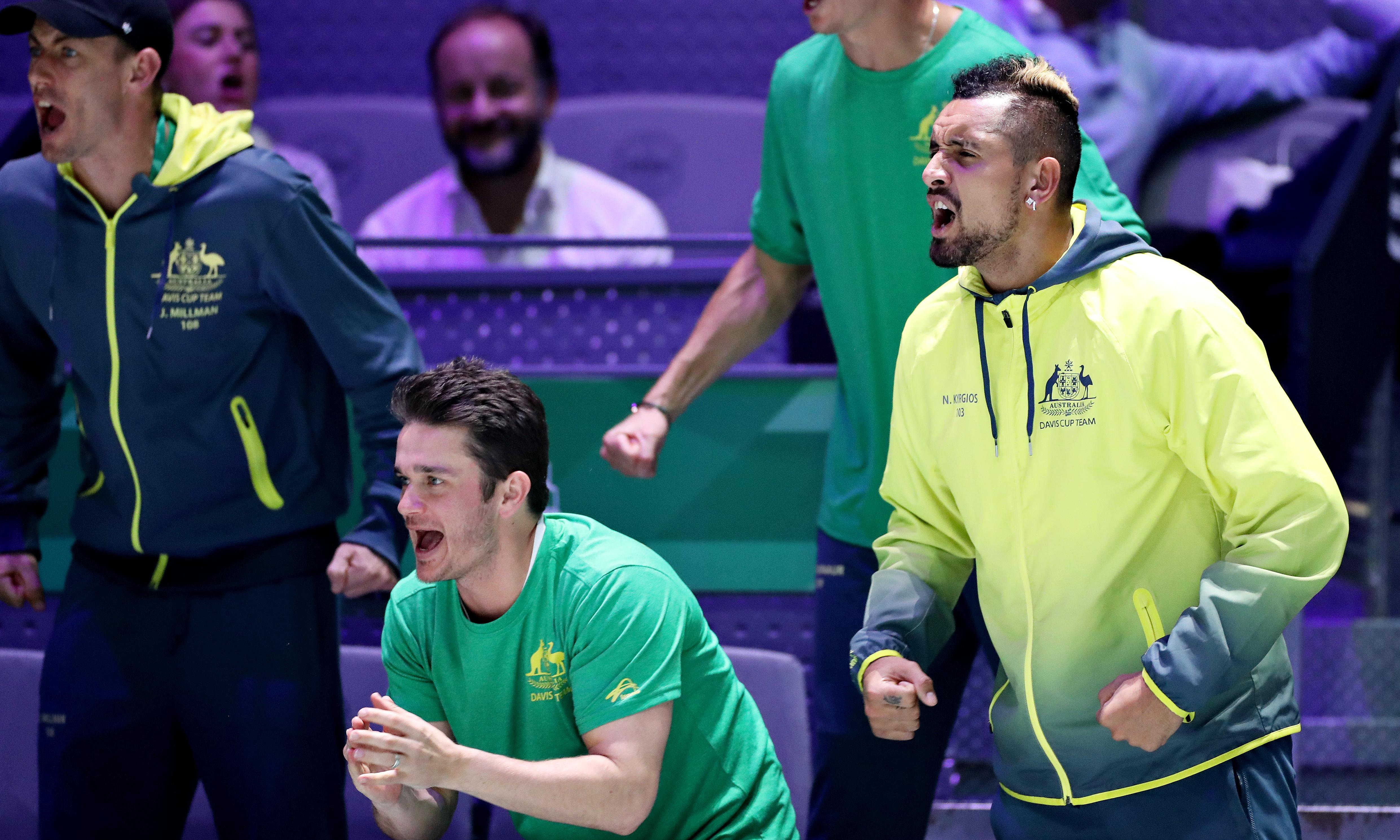 Australia fall in Davis Cup quarter-final after Nick Kyrgios pulls out with injury