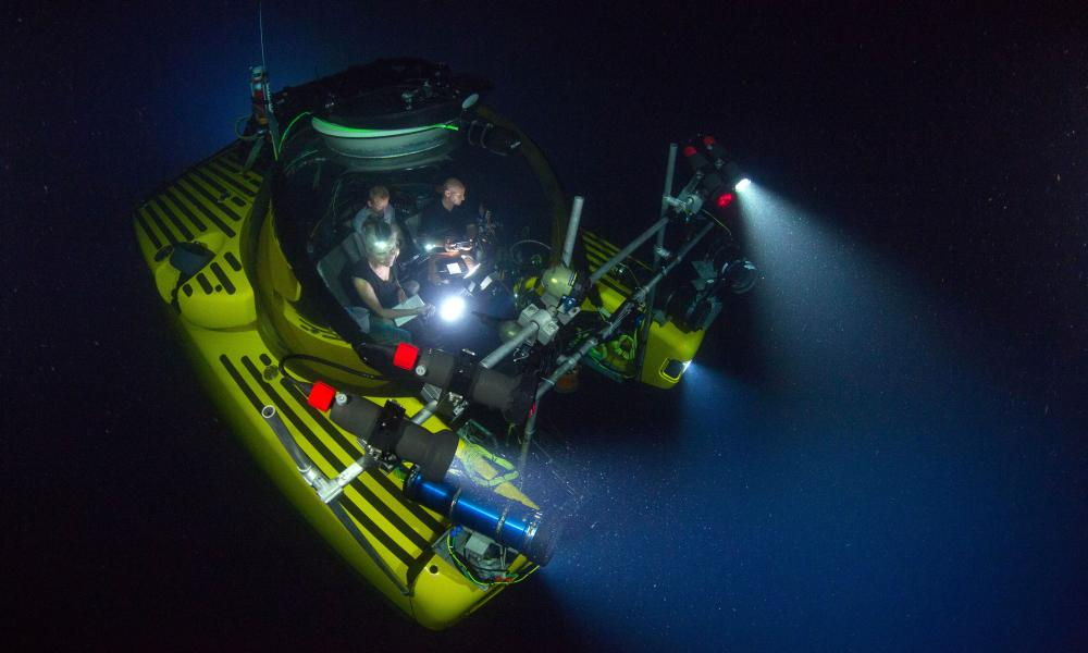 The submersible 'Nadir' used by Blue Planet II team to film the Deep episode. It was one of many subs used to film the series