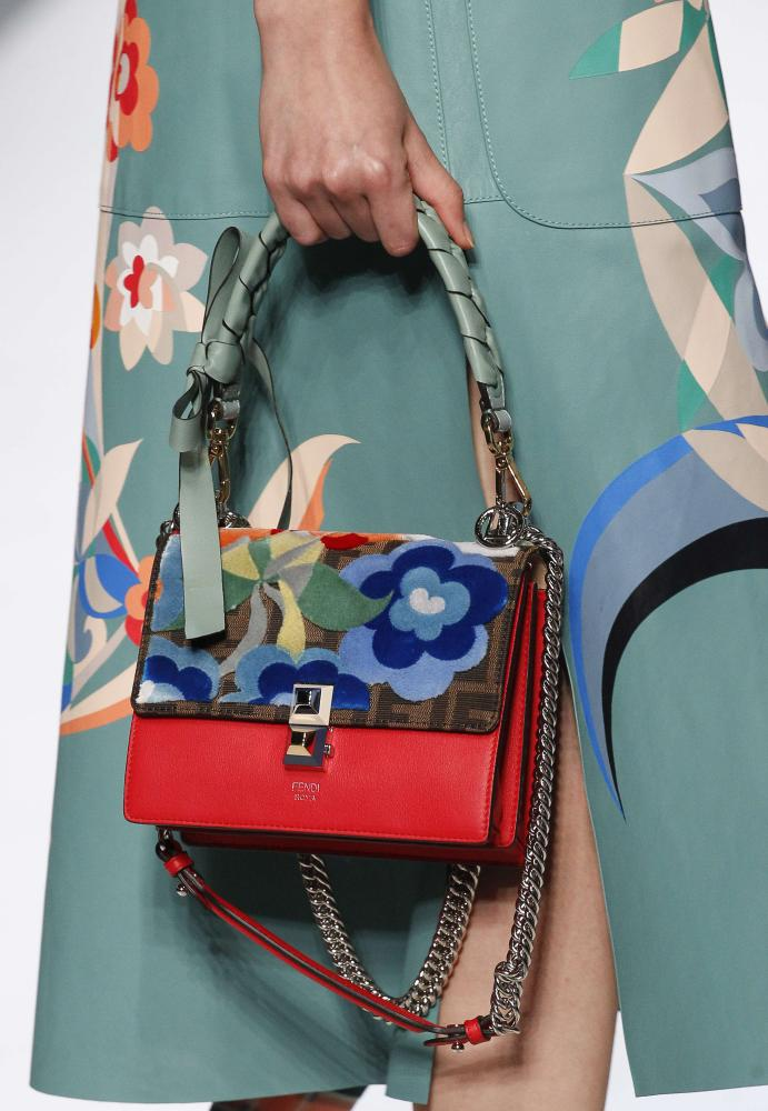 A model and bag at the Fendi show