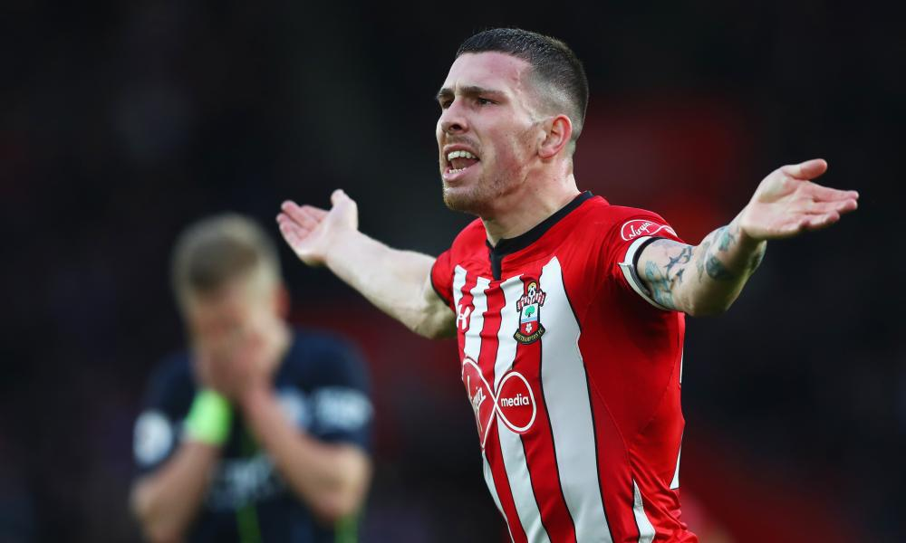 Hojbjerg celebrates after scoring his team's first goal