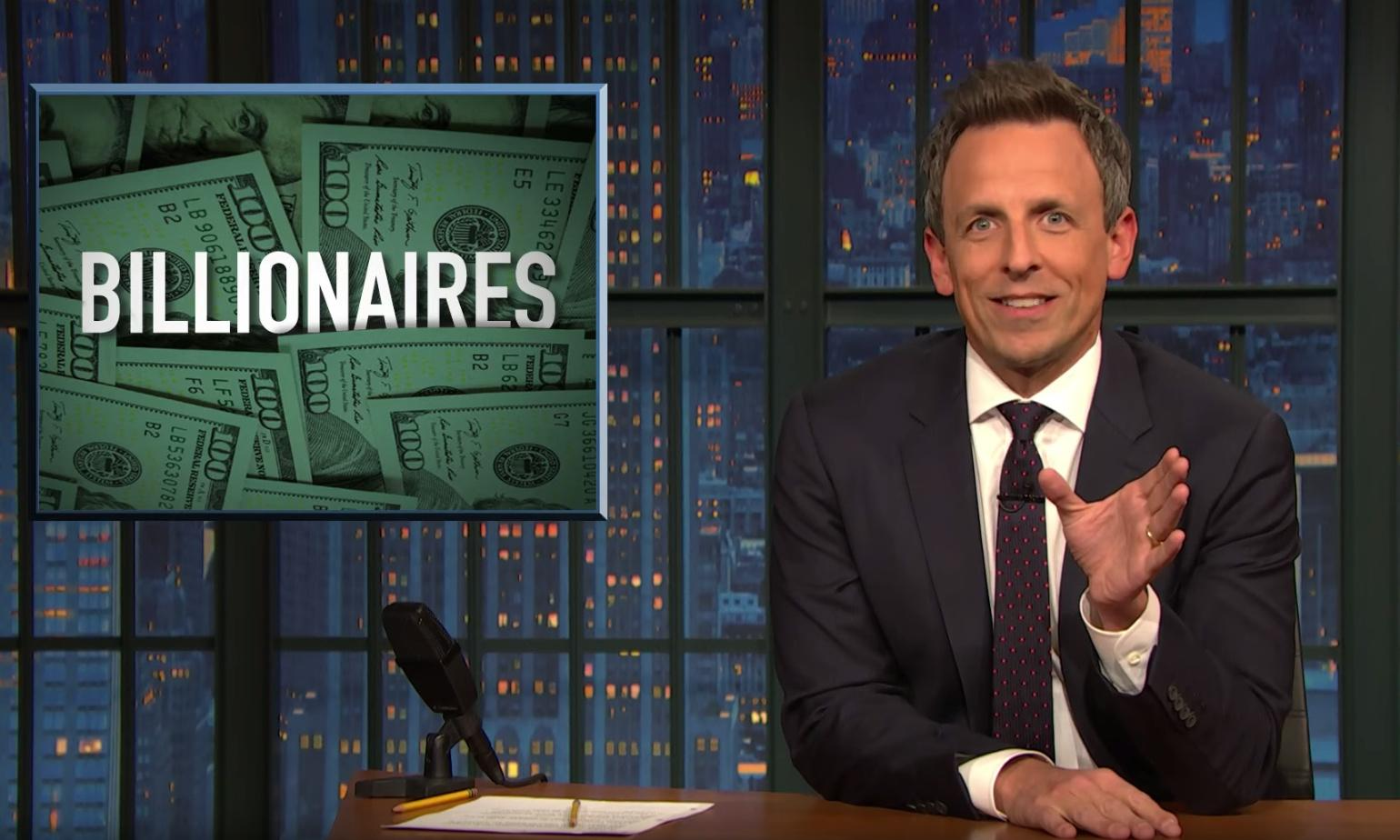 Seth Meyers: 'Voters don't want a self-appointed billionaire savior'