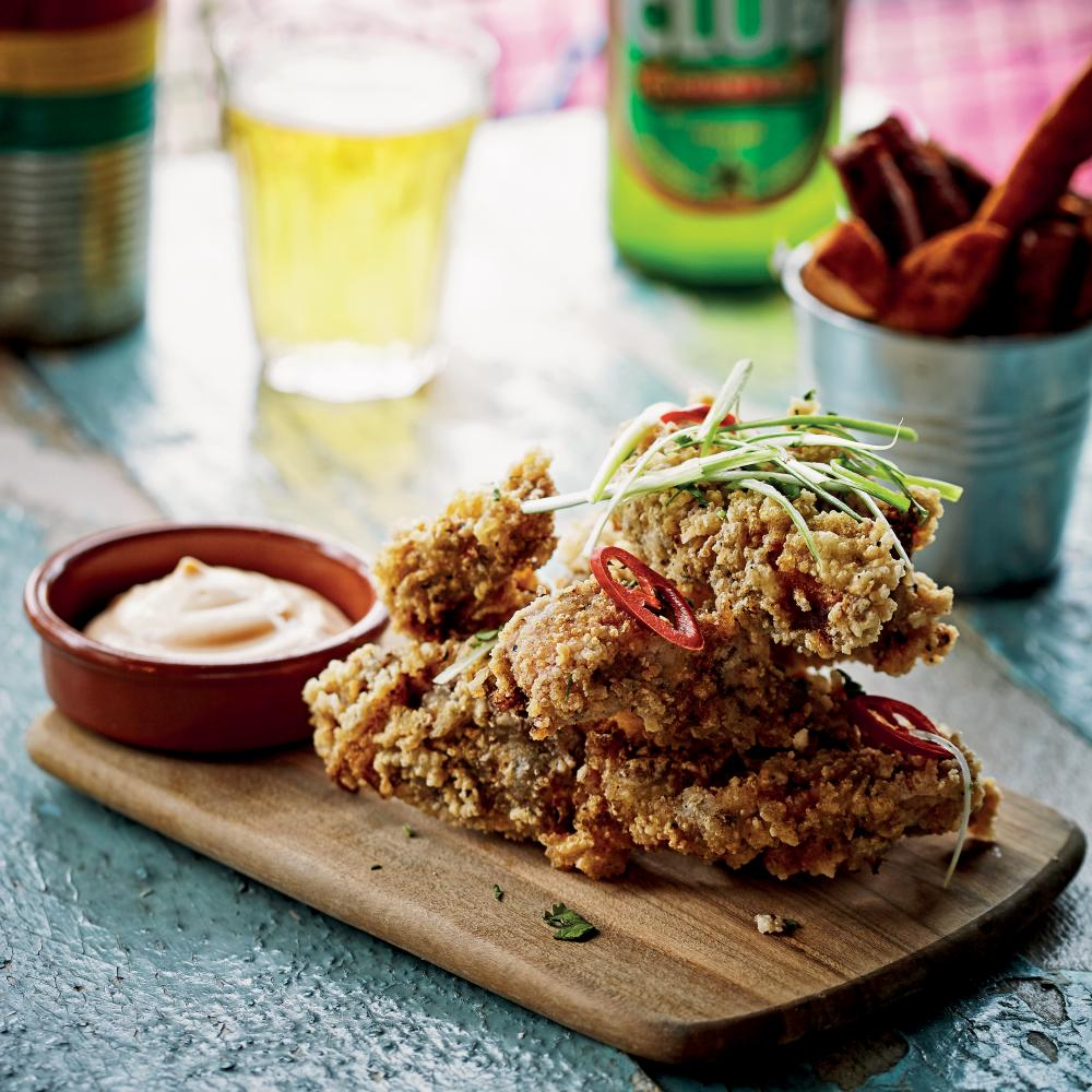 Jollof fried chicken.