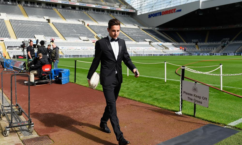 Florian Thauvin turns up for Newcastle's match with Arsenal in August 2015, one of his 13 starts for the club and a match they lost 1-0.