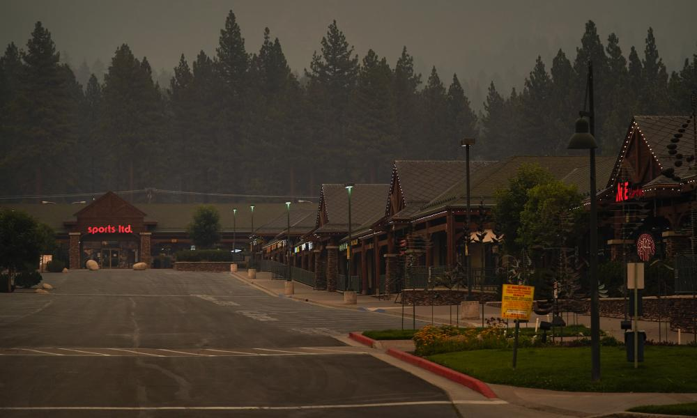 About 22,000 people had been forced to flee the popular resort of South Lake Tahoe and nearby areas last month as the Caldor fire roared toward it.