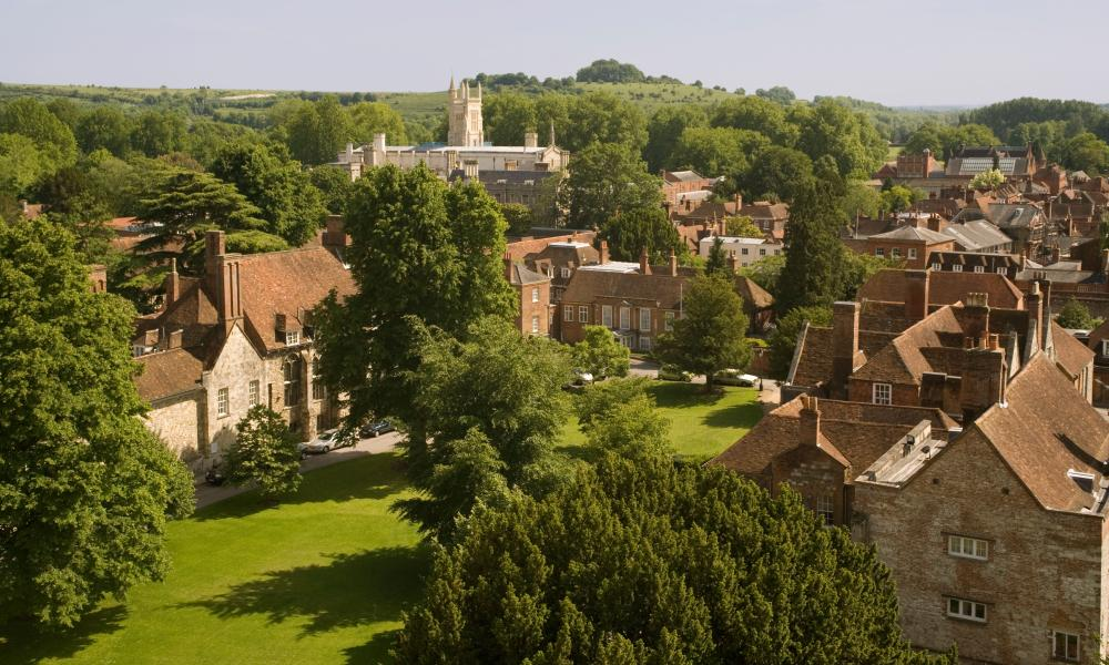 Winchester College and chapel.
