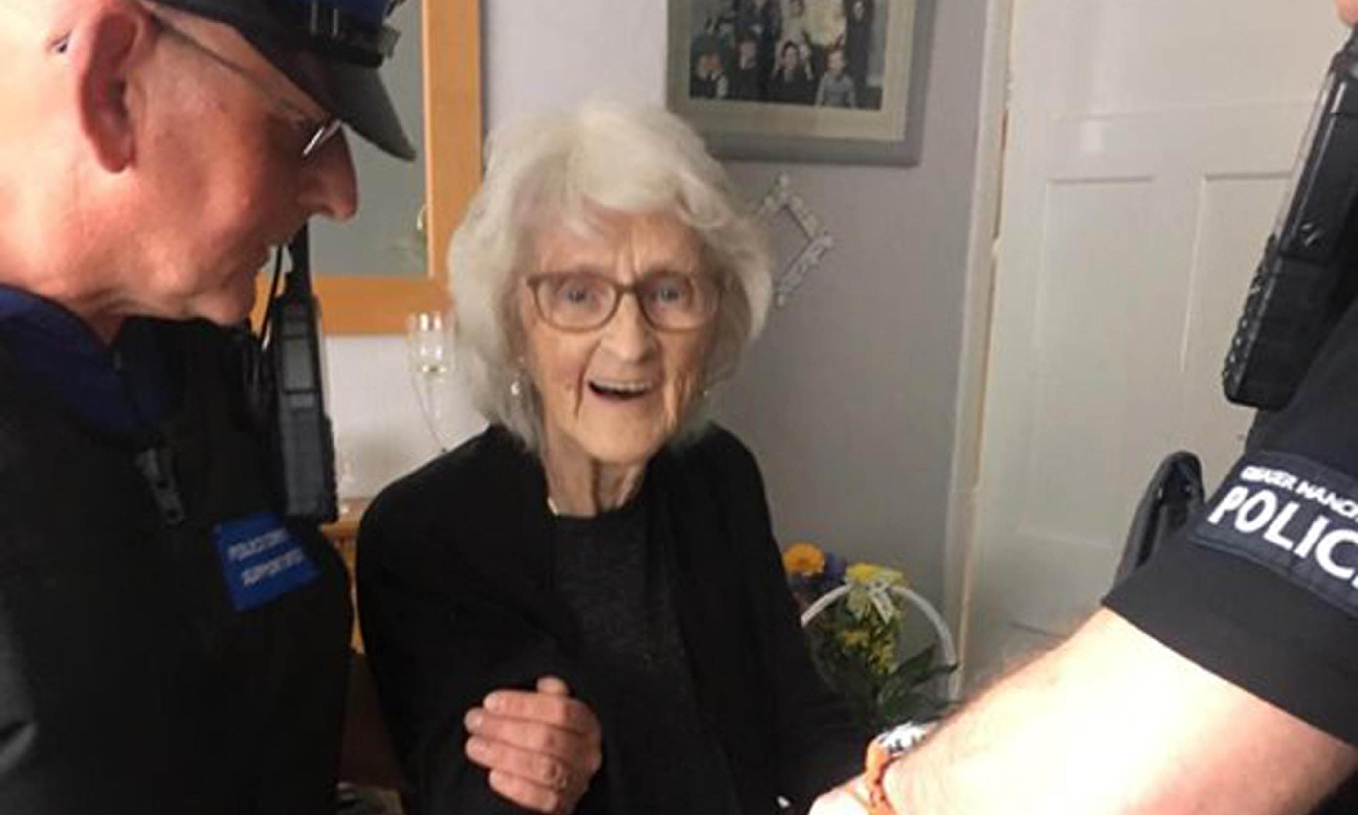 Woman, 93, arrested as a dying wish after being 'good all her life'
