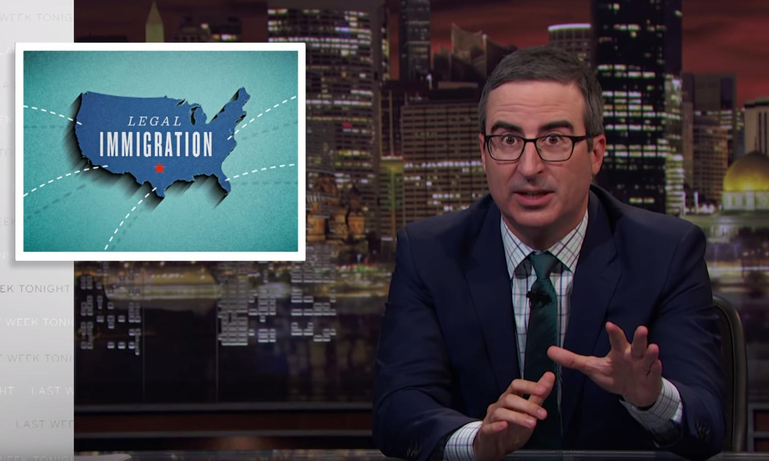 John Oliver on immigration: for many there is no way to come in the 'right way'