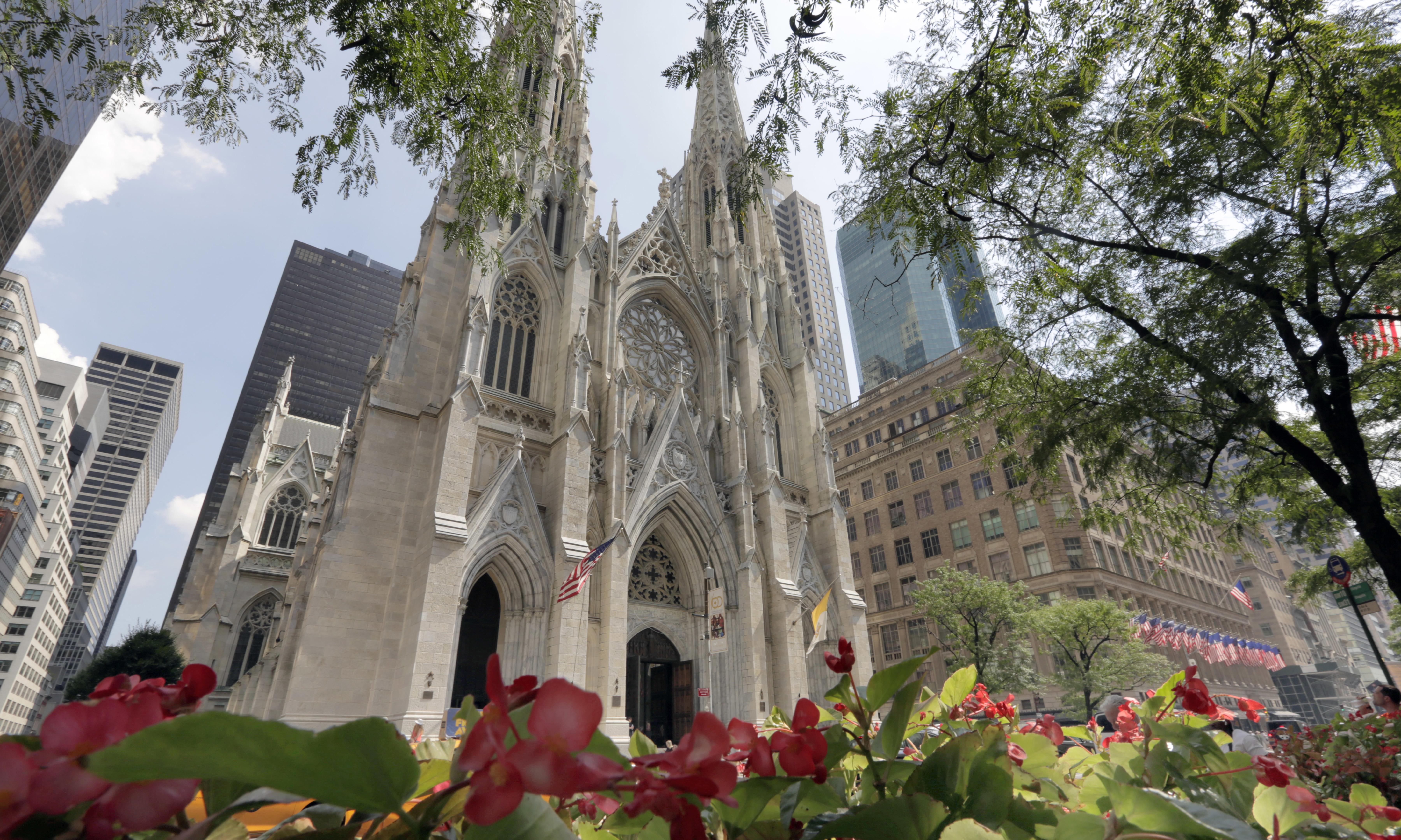 Man held in New York after taking gasoline into St Patrick's Cathedral