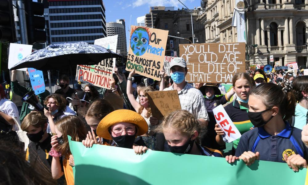 A School Strike 4 Climate protest in Brisbane