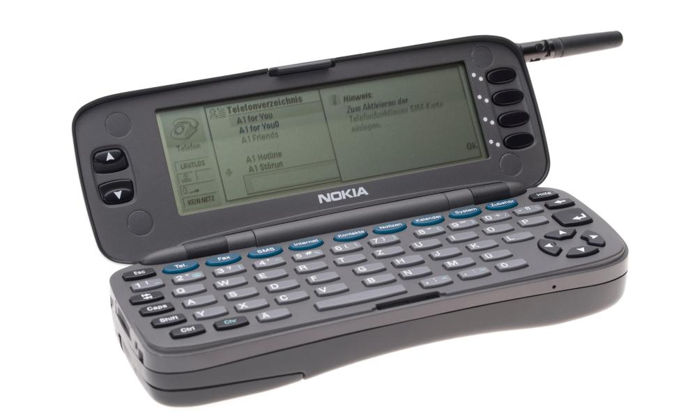 Nokia's first smartphone was the Communicator 9000 from 1996.