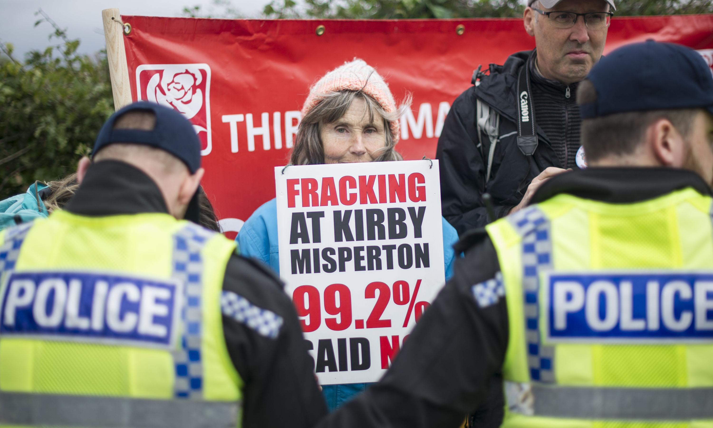 Pollution at fracking protest site rises despite lack of fracking
