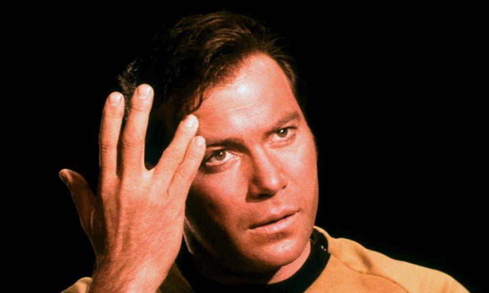 William Shatner as James T Kirk in Star Trek