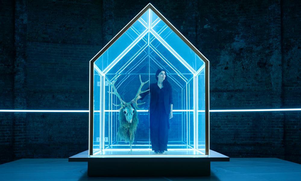 Devlin inside the stage set she designed for The Hunt, Rupert Goold's adaptation of Thomas Vinterberg's film.