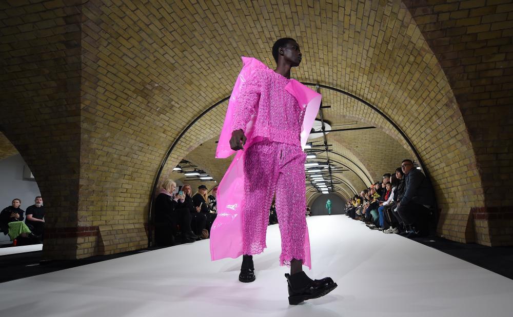 All pink at Craig Green during men's London fashion week.