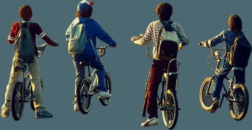 Stranger Things boys on bikes