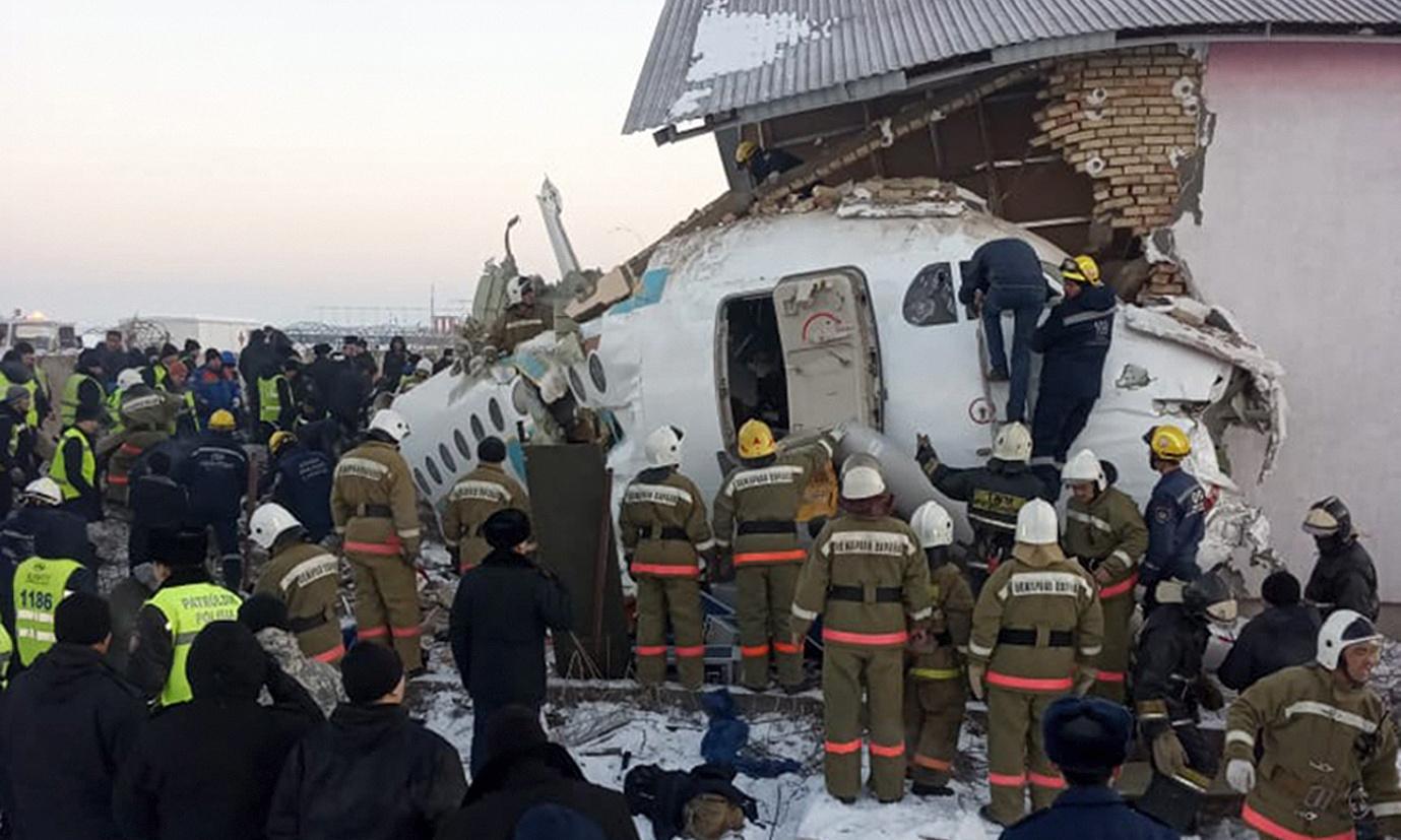 Kazakhstan plane crash: 12 killed as Bek Air flight crashes near Almaty airport