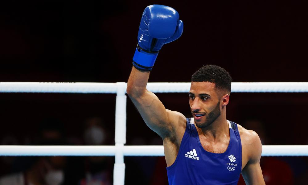 Galal Yafai of Team Great Britain on day fifteen of the Tokyo 2020 Olympic Games at Kokugikan Arena on August 07, 2021 in Tokyo, Japan. (Photo by Buda Mendes/Getty Images)