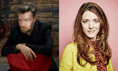 Charlie Brooker and Annabel Jones.