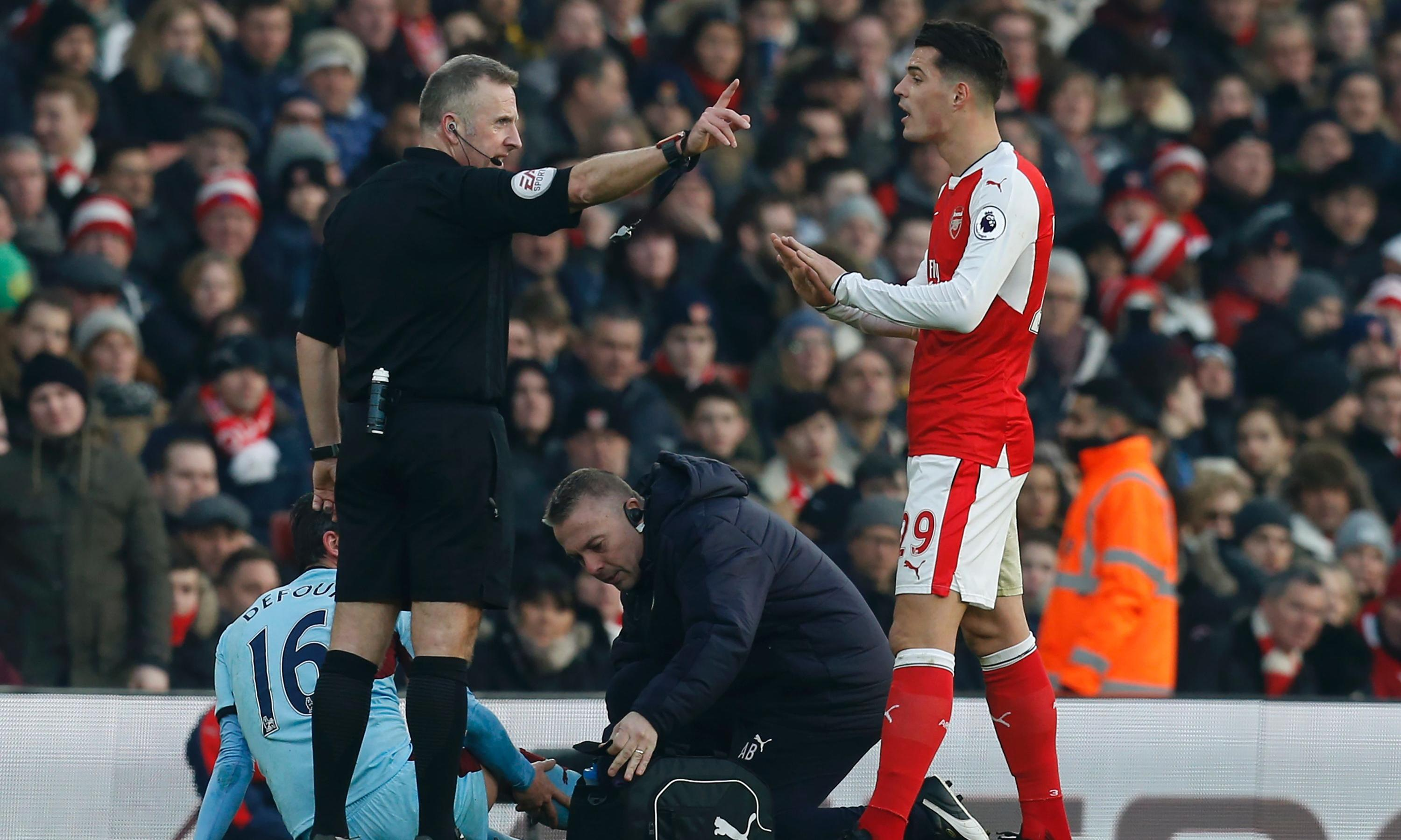 Image result for granit xhaka red card