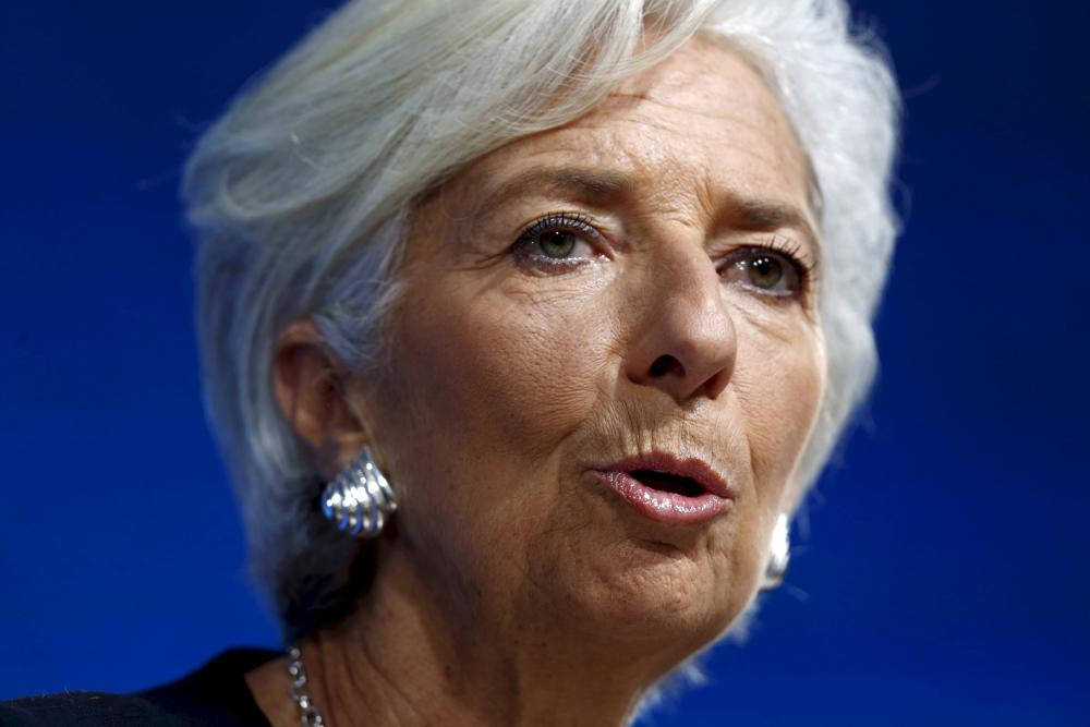 File photo of International Monetary Fund (IMF) Managing Director Lagarde speaking during a news conference during the 2015 IMF/World Bank Annual Meetings in LimaInternational Monetary Fund (IMF) Managing Director Christine Lagarde speaks during a news conference during the 2015 IMF/World Bank Annual Meetings in Lima, Peru in this October 8, 2015 file photo. Lagarde said on January 22, 2016 she will run for a second term. REUTERS/Mariana Bazo/Files