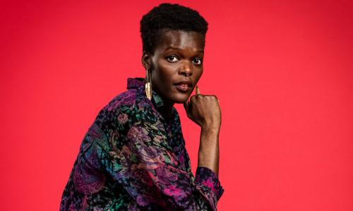 Sheila Atim BEST ACTRESS IN A SUPPORTING ROLE IN A MUSICAL for Girl From The North Country Portraits of Oliviers 2018 nominees. Olivier Awards 2018 nominees celebration at the Rosewood Hotel, London. Photograph by David Levene 9/3/18