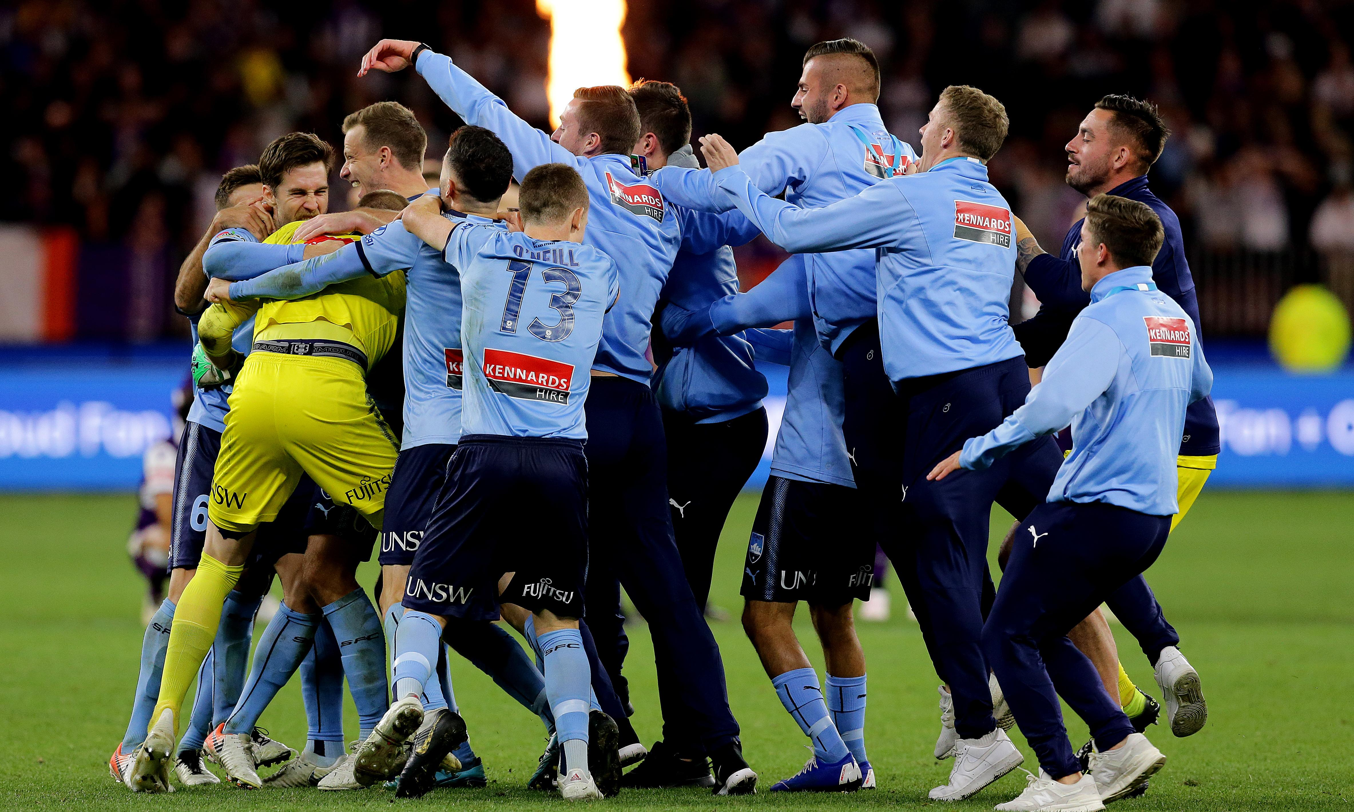 Sydney FC crowned A-League champions for fourth time after shootout win in Perth