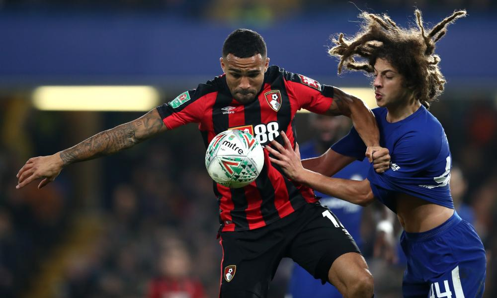 Bournemouth's Callum Wilson and Chelsea's Ethan Ampadu