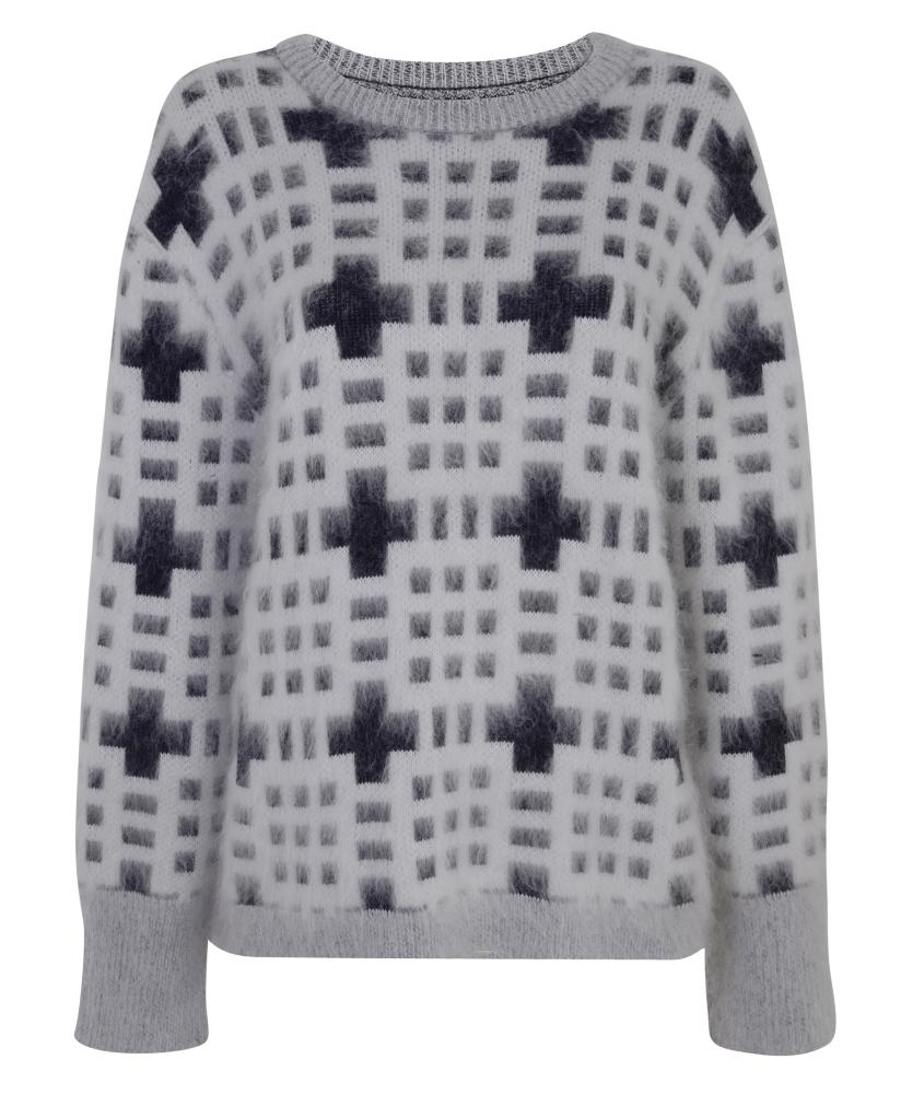 From Topshop's 100% shoppable collection. This Welsh pattern jumper is £85