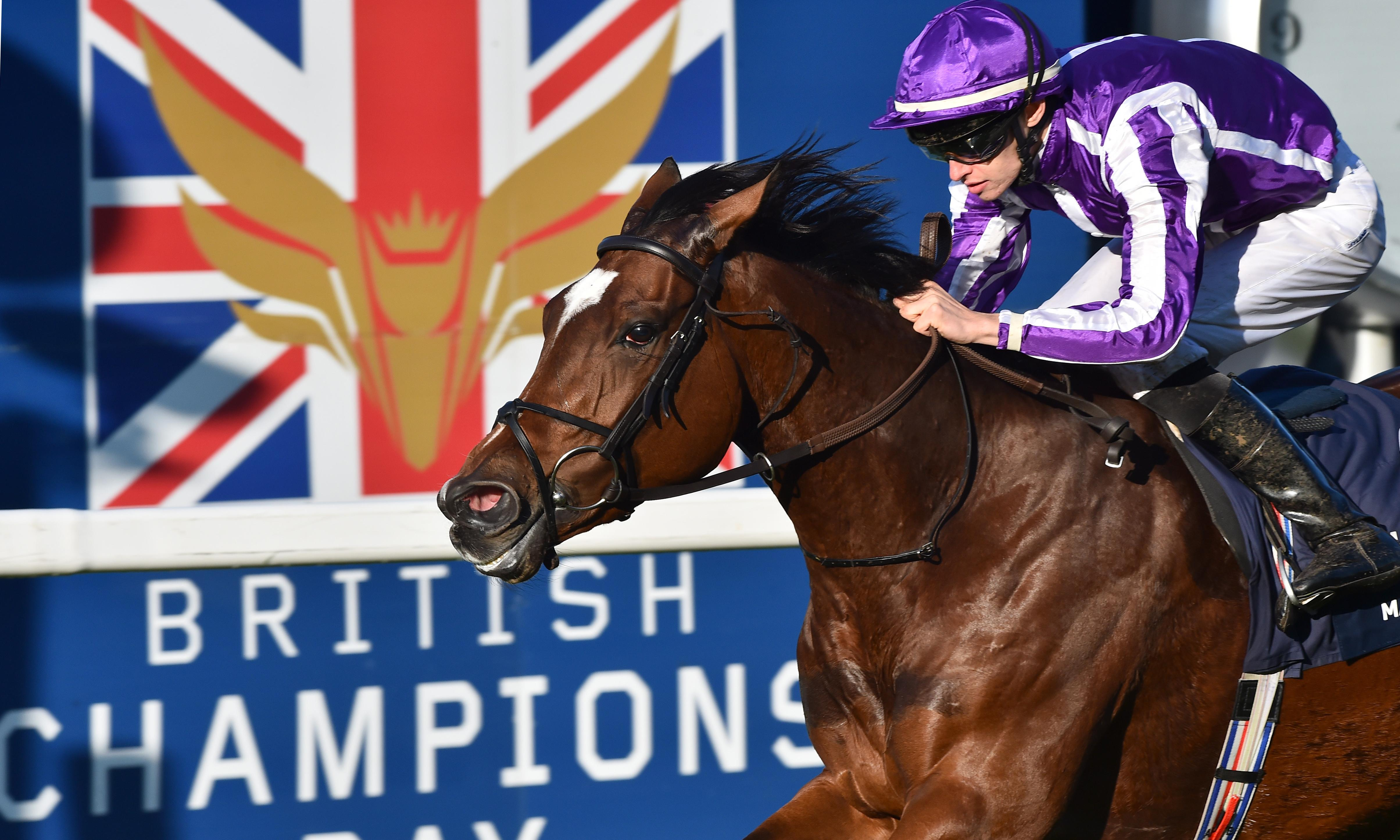 Magical battles home to win first Champion Stakes at Ascot for Aidan O'Brien