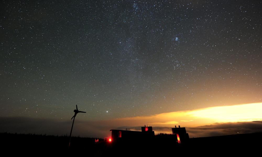 Stars in the Milky Way above Kielder observatory, Northumberland, UK.