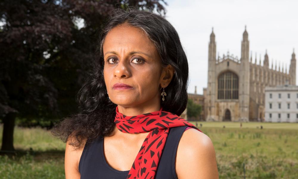 Priyamvada Gopal outside Kings College in Cambridge in 2018.