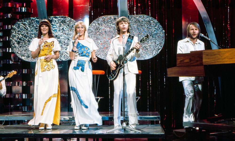 Swedish band Abba performing Mamma Mia on The Best of ABBA Bandstand special in Australia, March, 1976