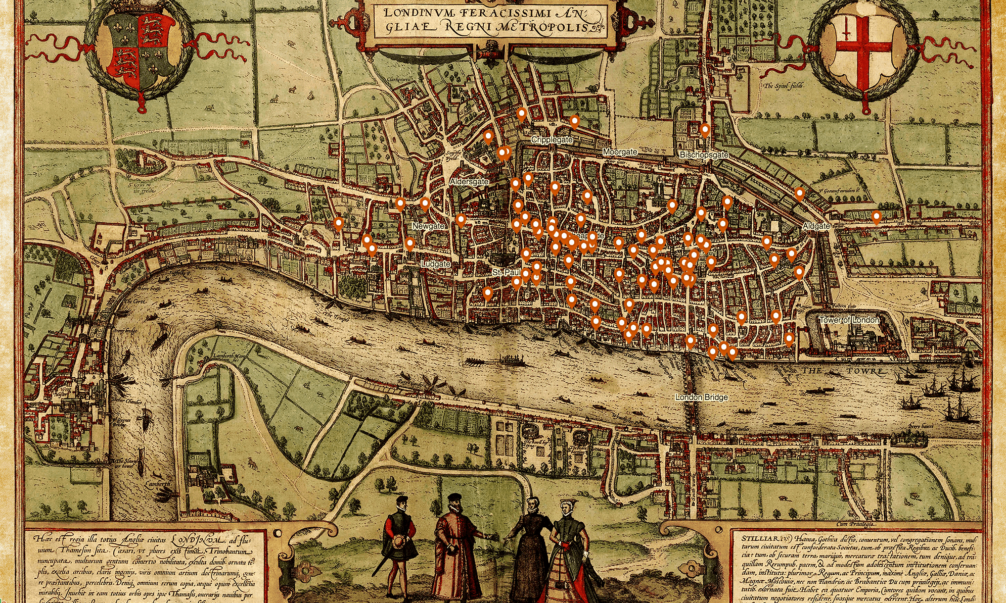 New interactive death map breathes life into medieval London