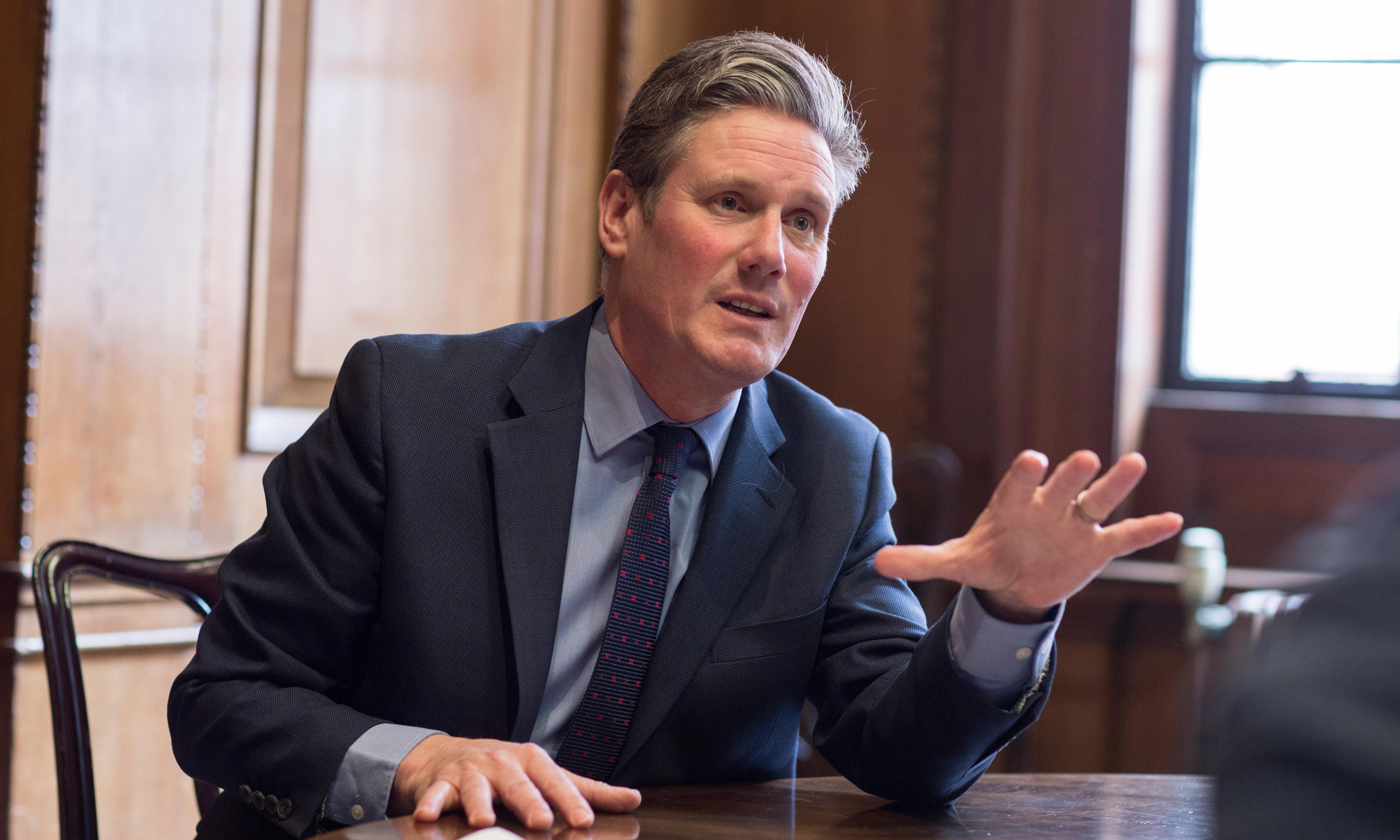 Starmer: PM is running down clock on Brexit so MPs get binary choice