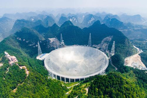 The world's largest single-dish telescope has begun operating in south-western China - a project that Beijing says will help humanity search for alien life. The 500-metre aperture spherical radio telescope (Fast), nestled between hills in the mountainous region of Guizhou, started scanning space at noon on Sunday