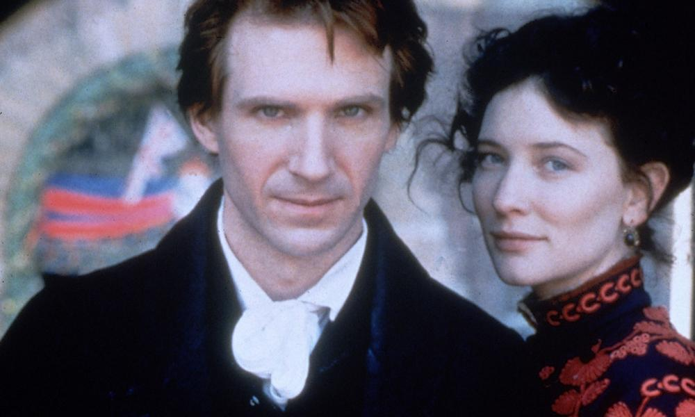 Ralph Fiennes and Cate Blanchett in the title roles of the film version of Oscar and Lucinda.