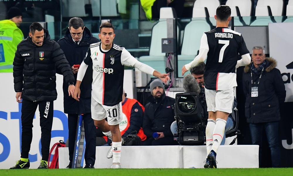 Cristiano Ronaldo was replaced by Paulo Dybala, who would score the matchwinner against Milan.