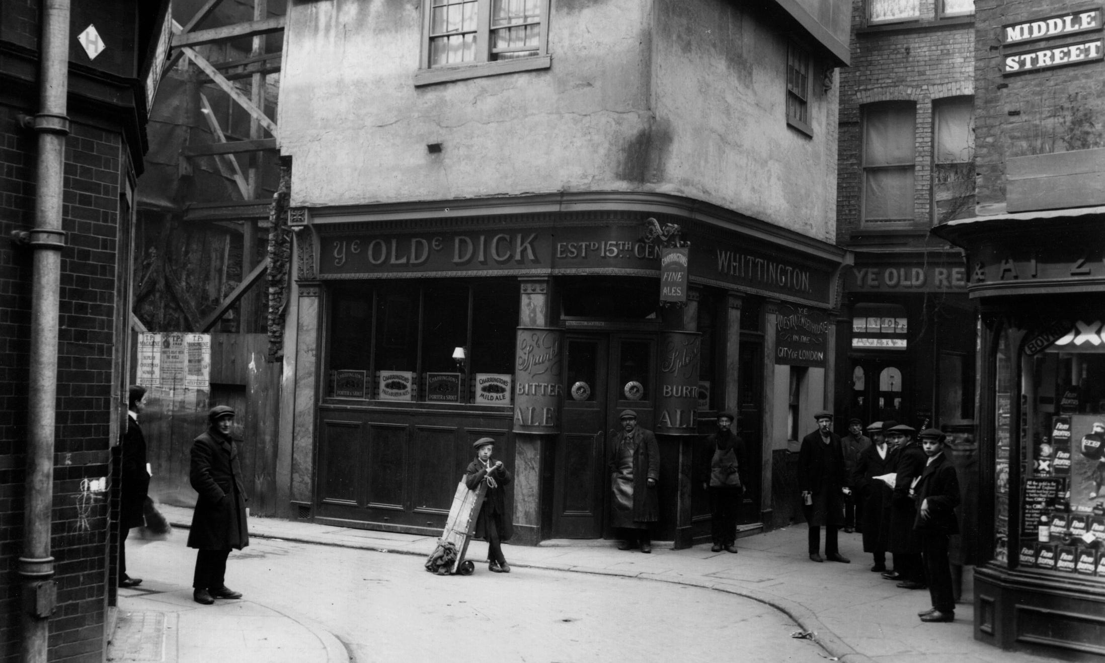 London's 'oldest tavern' threatened with demolition – archive, 18 February 1911