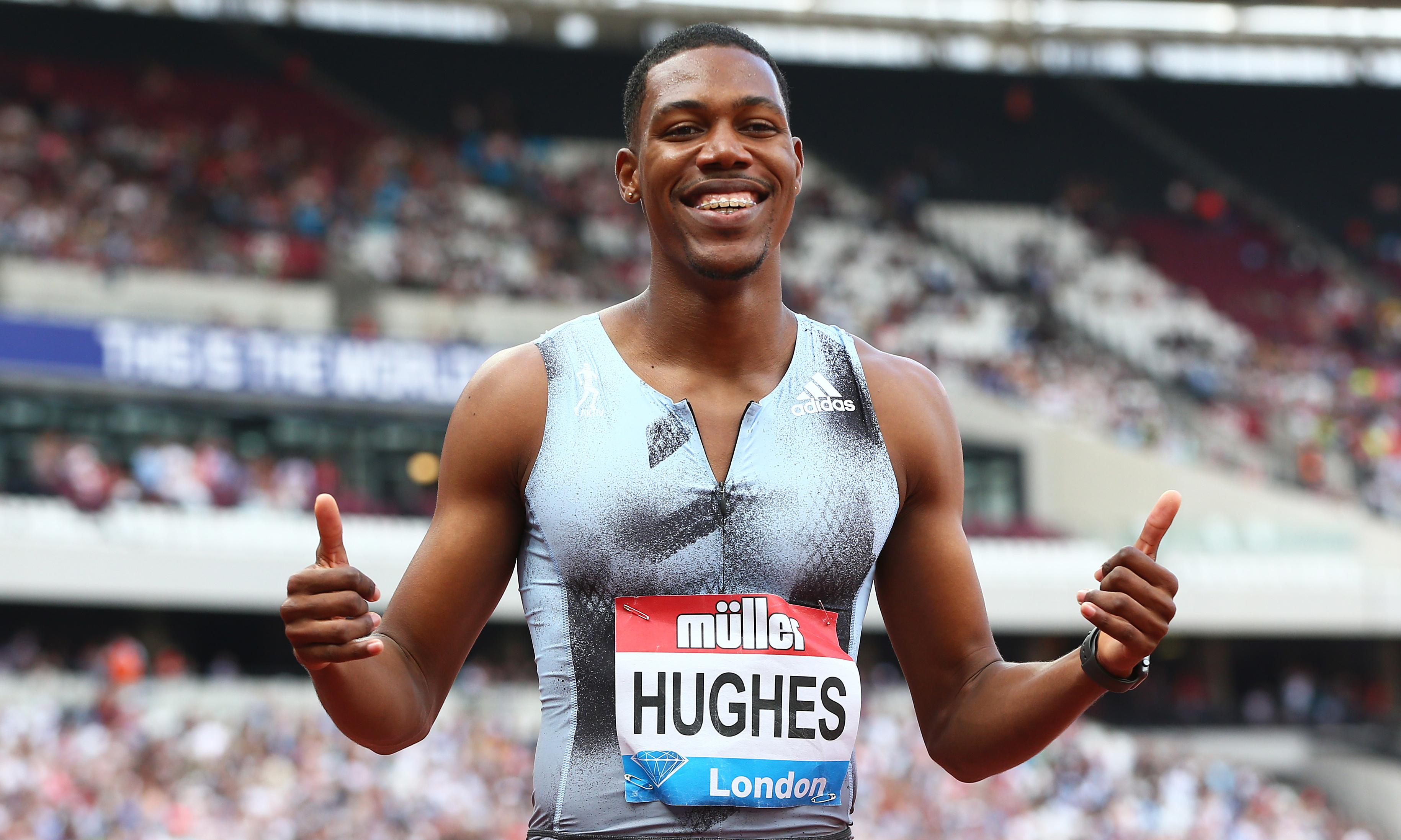 Zharnel Hughes targets UK record: 'I believe I can run 9.8, possibly a 9.7'