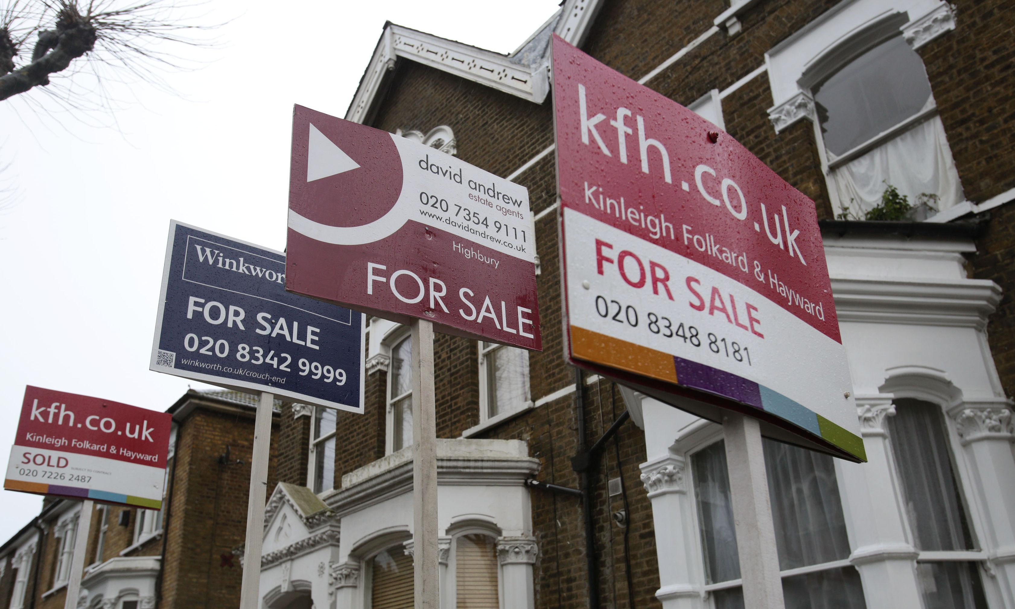 UK house prices rise at fastest rate on record